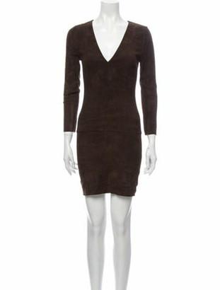 Jitrois Suede Mini Dress w/ Tags Brown