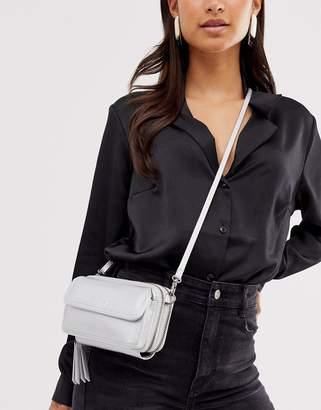 Claudia Canova double compartment purse in silver