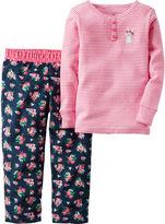 Carter's 2-pc. Pink Fleece Pajama Set - Toddler Girls 2t-5t
