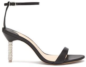 Sophia Webster Haley Crystal-embellished Leather Sandals - Womens - Black