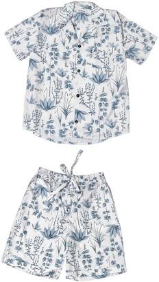 Phriya Men's Gray Circe's Garden Short Pajama Set