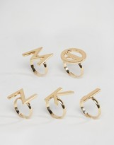 Monki Letter Ring Pack