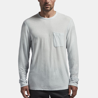 James Perse Cotton Linen Jersey Pocket Tee