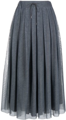 Fabiana Filippi Drawstring Waist Flared Skirt