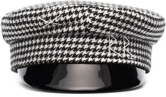 Ruslan Baginskiy Houndstooth-Check Baker Boy Hat