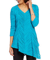IC Collection V-Neck Pointed Hem Tunic