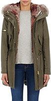 SAM. Women's Fur-Lined Hooded Coat-DARK GREEN