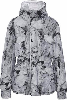 Norma Kamali Printed Neoprene Hooded Jacket