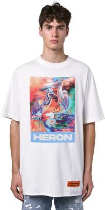 Heron Preston Heron Print Over Cotton Jersey T-Shirt