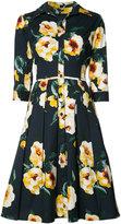 Samantha Sung Audrey Dahlia dress - women - Cotton/Spandex/Elastane - 4