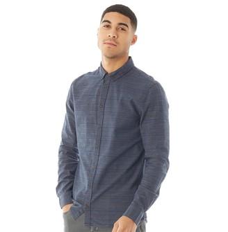 Blend Mens Long Sleeve Shirt Dark Navy Blue