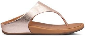 FitFlop Banda Metallic Leather Thong Sandals