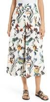 Tibi Women's Gothic Floral Nerd Crop Pants