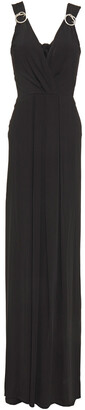 Just Cavalli Buckle-embellished Stretch-jersey Maxi Dress