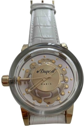 S.t. Dupont White Steel Watches