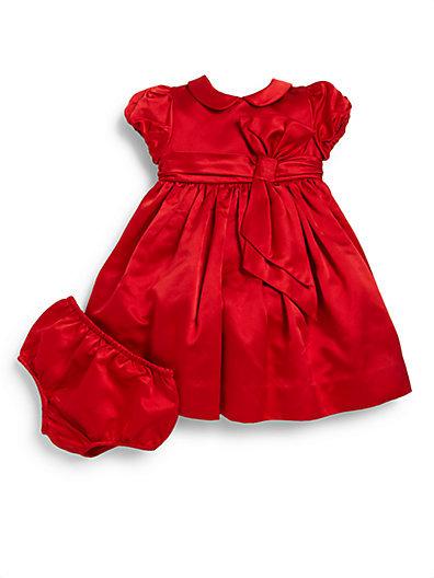 Ralph Lauren Infant's Two-Piece Silk Duchess Dress & Bloomers Set