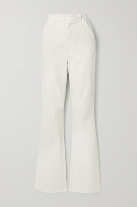 J Brand Runway Cotton-blend Corduroy Flared Pants - Ivory
