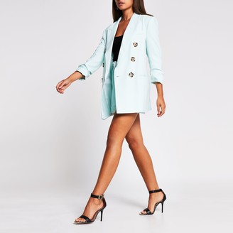 River Island Womens Green double breasted blazer