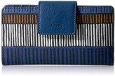Fossil Emma Rfid Tab Wallet-navy Stripe Wallet
