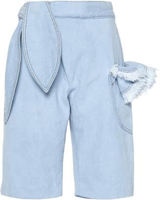 By Efrain Mogollon Petal Denim Bermuda Shorts Size: 2