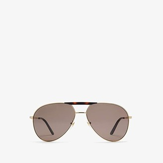 Gucci GG0242S (Gold/Black) Fashion Sunglasses