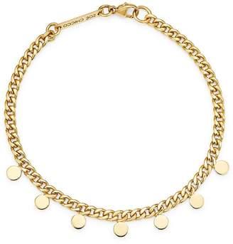 Chicco Zoë 14K Yellow Gold Itty Bitty Dangling Discs Curb Chain Bracelet