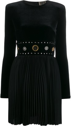 Fausto Puglisi pleated studded waistband dress