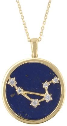 Latelita Zodiac Lapis Lazuli Gemstone Star Constellation Pendant Necklace Gold Libra