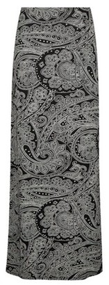 Dorothy Perkins Womens Black Paisley Print Maxi Skirt, Black