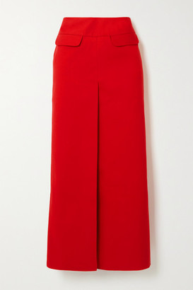 LADO BOKUCHAVA Cotton-twill Maxi Skirt - Red