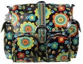 Kalencom Matte Coated Double Duty Diaper Bag, Floral Stitches by