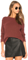 James Perse Vintage Sweatshirt in Burgundy. - size 0 (XXS/XS) (also in 1 (XS/S),2 (S/M),3 (M/L))