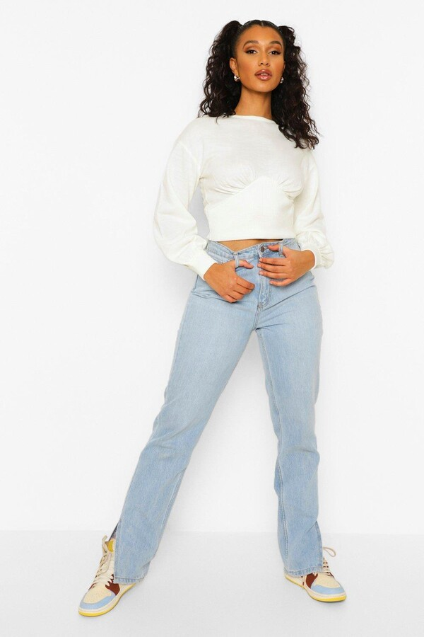 Thumbnail for your product : boohoo Fine Gauge Corset Jumper