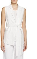 Lafayette 148 New York Scarlet Mixed Media Vest - 100% Bloomingdale's Exclusive