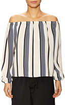 Lucca Couture Striped Off Shoulder Blouse
