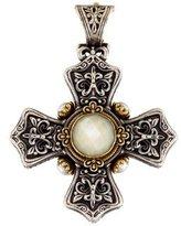 Konstantino Pearl Cross Pendant
