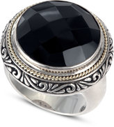 Effy Balissima by Onyx Circle Ring (12-9/10 ct. t.w.) in Sterling Silver and 18k Gold