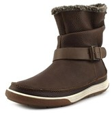 Ecco Chase Ii Mid Women Round Toe Synthetic Brown Snow Boot.