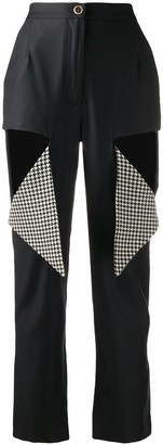 Natasha Zinko Contrast Cut-Detail Trousers