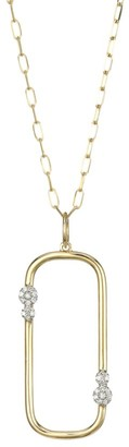 Phillips House 14K Yellow Gold & Diamond Box Link Pendant Long Necklace