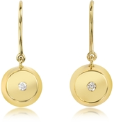 Aurelie Bidermann Telemaque 18K Gold and Diamond Bell Earrings