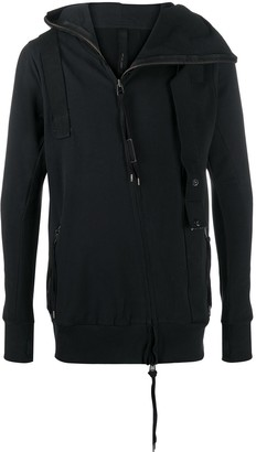 Army Of Me Canvas Strap Detail Hoodie