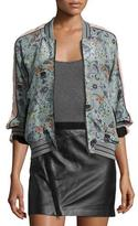 Zadig & Voltaire Billy Circus Reversible Bomber Jacket, Gray