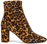 Saint Laurent Lou Leopard Booties in Natural | FWRD