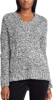 Chaps Women's Sparkle Long Sleeve Sweater