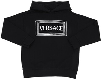 Versace Embroidered Cotton Sweatshirt Hoodie
