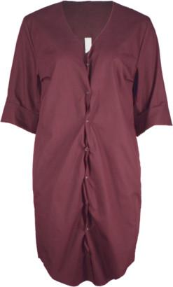 Format ILSE Rust Plain Dress - XS - Red/Brown/Copper