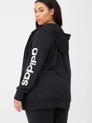 adidas Plus Essentials Full Zip Hoodie - Black
