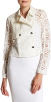 Rachel Roy Cropped Lace Trench Coat