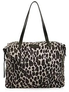 Rebecca Minkoff Women's Leopard-Print Washed Nylon Tote
